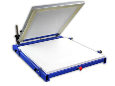 one color manual screen printing table